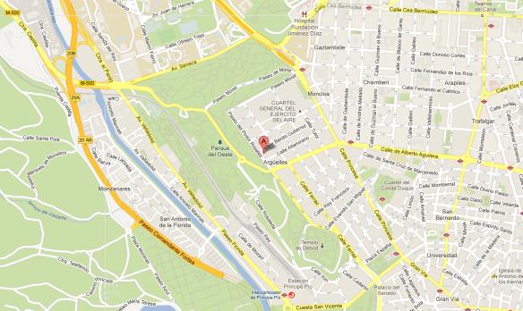 Mapa Círculo Valenciano de Madrid