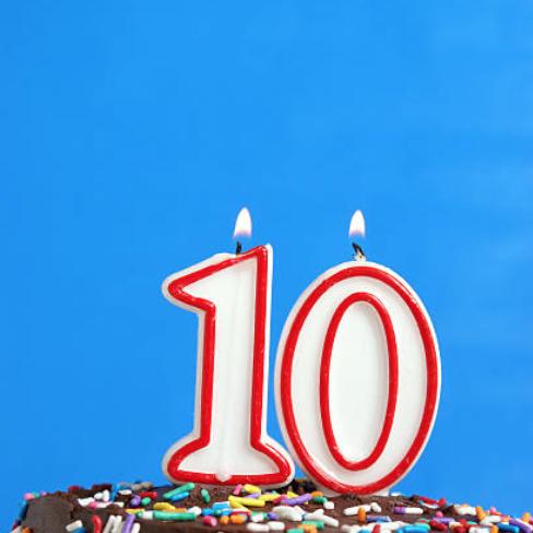 Velas 10 años Musikum